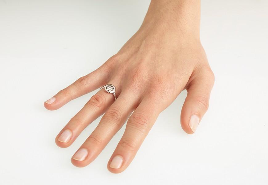 Anello Pavè di diamanti