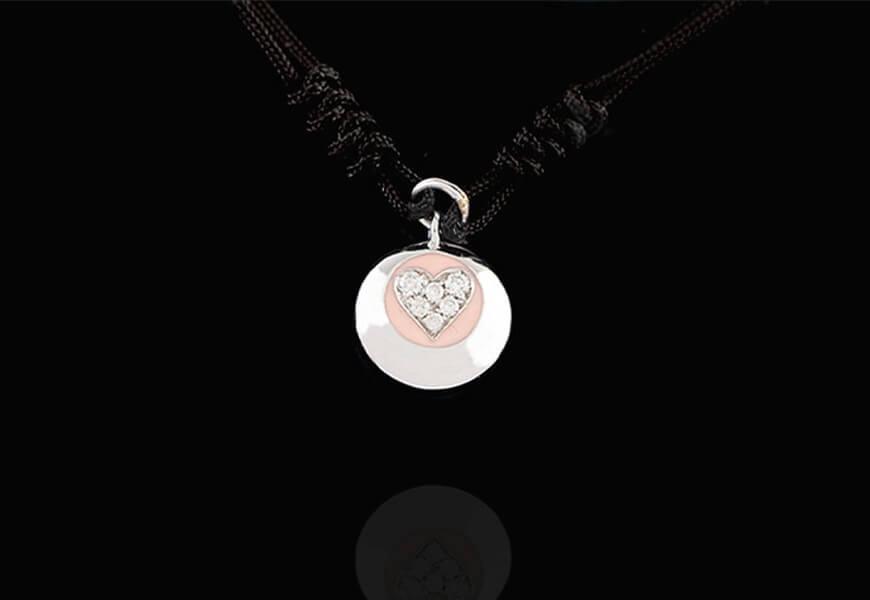 Braccialetto con cuore e diamanti