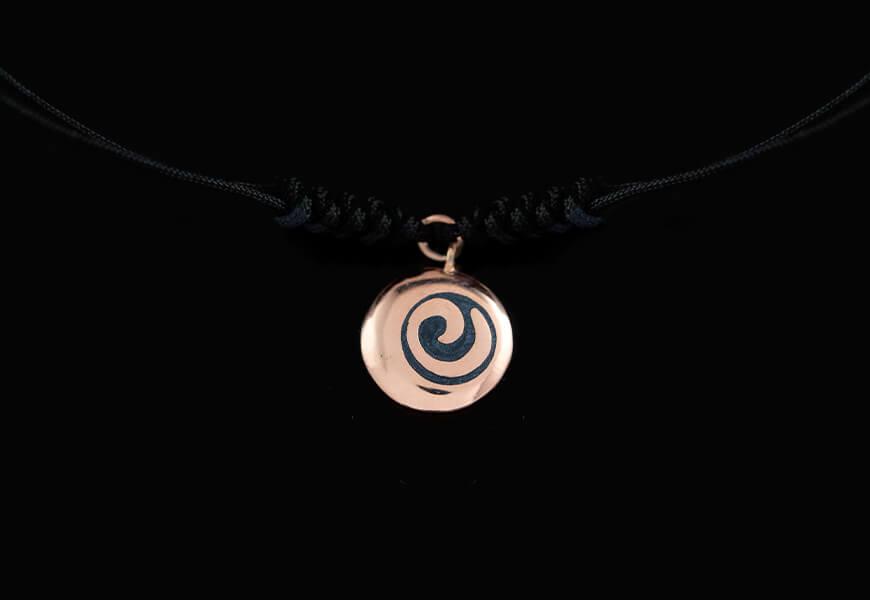 Braccialetto con spirale e oro rosa