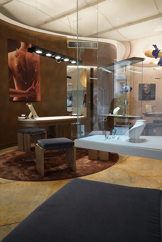 showroom daverio1933, Il restyling dello showroom DAVERIO1933