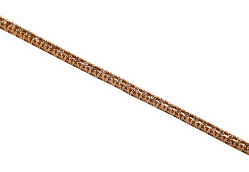 Tennis con diamanti brown