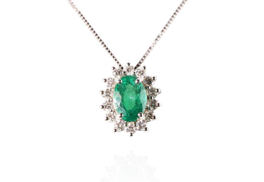 Ciondolo con smeraldo